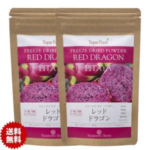 レッドドラゴンフルーツ ピタヤ フリーズドライパウダー 60g 2袋 Red Dragon Fruit Freeze Dried Powder PITAYA|rainforest-herbs