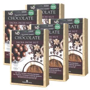 サチャインチナッツチョコボール 100g 5個 有機カカオ70% 有機ココナッツシュガー30% ハイ...