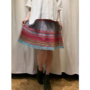 モン族スカート ショート丈 モン族 手刺繍 スカート|rainforest