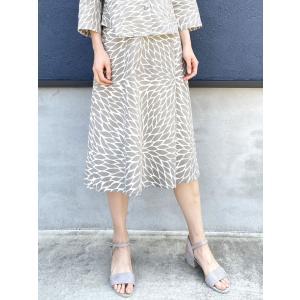 【ナチュラルコットン】ラップ風スカート【大菊】|rainforest