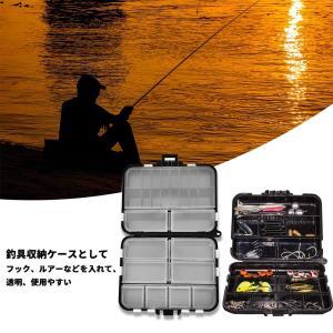 ルアーケース 餌箱 釣りタックルボックス 釣具収納 防水 ポータブル 仕掛け小物入れ 個々のコンパートメント 持ち運び易い 釣り道具 ボック|rainyblues