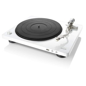 DENON レコードプレーヤー USB録音対応 ホワイト DP-450-WTEM