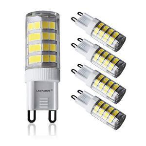 Lampaous Led 電球 G9口金、6000k 昼白色、5W G9 LED、40W ハロゲン 電球 350-400 ルーメン 相当。|rainyblues