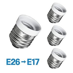 口金変換アダプター 4個セット 電球ソケット 白熱球 LED球 蛍光灯 (E26⇒E17)
