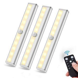 AeeYui クローゼットライト 電池式 リモコン付き 調光可能 タイマー機能 高輝度 ledライト 省エネ 配線不要 キッチン/玄関/階段|rainyblues
