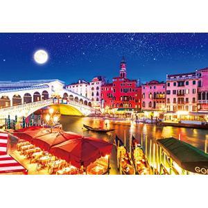 1000ピース ジグソーパズル 世界遺産 月夜のヴェネツィア 世界極小マイクロピース(26x38cm)|rainyblues