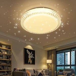 LED シーリングライト 星空効果 20W 4~6畳 3段階調色 白色 電球色 昼光色 LED 照明器具 天井 和風 玄関 門灯 廊下 和室|rainyblues