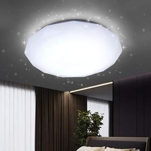 LED シーリングライト 星空効果 18W 6畳 照明器具 天井ライト 照明器具 昼光色 玄関 門灯 廊下 和室 照明 おしゃれ 台所 洗面|rainyblues