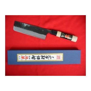 「土佐清龍作」黒打菜切包丁(両刃)18cm|rakucho-webstore