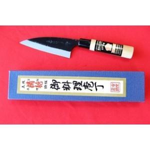 西山商会「土佐清龍作」黒打両刃小包丁12cm|rakucho-webstore