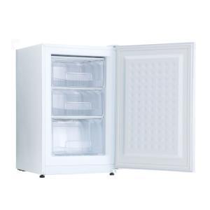 在庫処分 冷凍庫 家庭用 小型 収納 スリム 前開き 82L 3段引き出し 一人暮らし 備蓄 買い溜...