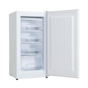 冷凍庫 家庭用 小型 収納 スリム 前開き 108L 4段引き出し 業務用 備蓄 買い溜め 白 AR...