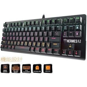 GAMDIAS 91キー 赤軸 日本語配列? 7 Color LEDライト スイッチを採用したメカニカル式ゲーミングキーボード (HERME|rakuget