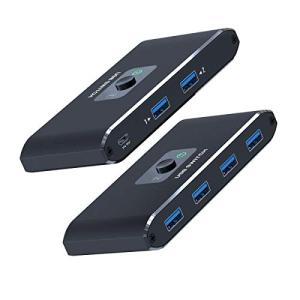 新しいアップグレードチップUSB 切替器 3.0 高速転送 USB 切り替え PC2台用 プリンタ マウス キーボード ハブなどを切替 手動|rakuget