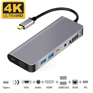 USB C HDMI VGA変換 USB C ハブ 7in1 USB Type C ハブ HDMI Samsung Dexモード USBC|rakuget