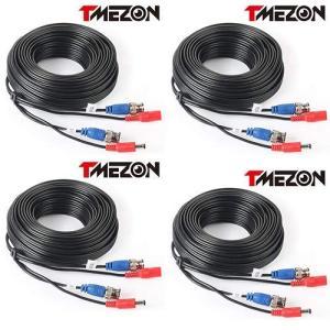 TMEZON CCTV防犯カメラ用 BNC端子 映像/電源一体型 延長ケーブル30M 4条|rakuget