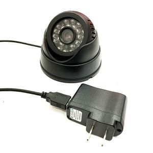 防犯カメラ ドーム型 USB接続 赤外線 24灯搭載 録画一体型