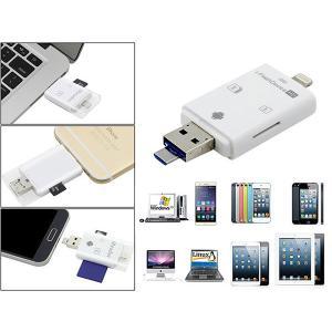 iOS Android USB SD micro SD カードリーダー 携帯用 iPhone iPa...