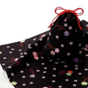 エコクロス-風呂敷(ふろしき)×巾着セット- 鈴と桜 風呂敷...
