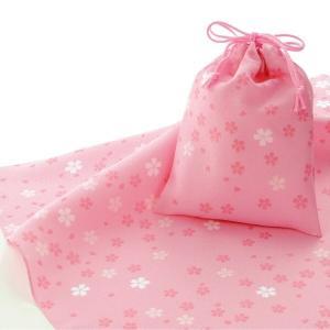 エコクロス-風呂敷(ふろしき)×巾着セット- 小桜 風呂敷二...