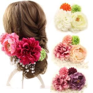 髪飾り 浴衣 結婚式 成人式 和装 花 髪飾り 5点セット クリップ 花 振袖 卒業式 袴 七五三 着物