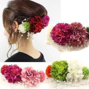 フリルラナン花コサージュ5点セット  髪飾り 花 結婚式 成...