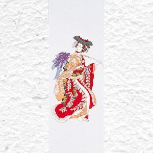 浮世絵手拭 藤娘 100×35cm 手拭い 母の日 父の日 ...