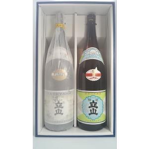 立山 吟醸と 本醸造 1.8L 2本ギフト箱入|rakuiti-sake