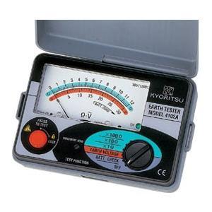 (送料無料)(在庫有)共立電気計器 KYORITSU 4102A アナログ接地抵抗計(ソフトケース付)           |rakurakumarket