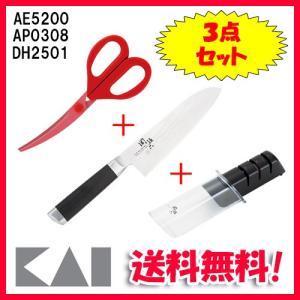 ◆メーカー:貝印 ◆品名:関孫六 ダマスカス 三徳包丁 165mm・ダイヤモンド&セラミック...