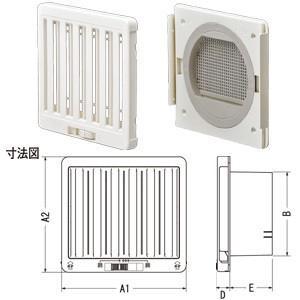 ジャッピー JAPPY JKS100AWH 換気用樹脂製レジスター|rakurakumarket
