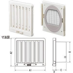 ジャッピー JAPPY JKS100MWH 換気用樹脂製レジスター|rakurakumarket