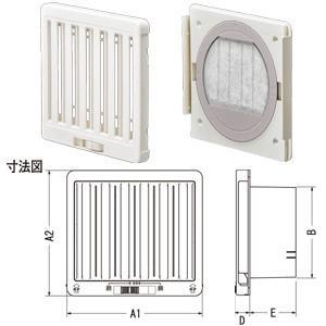 ジャッピー JAPPY JKS150FWH 換気用樹脂製レジスター|rakurakumarket