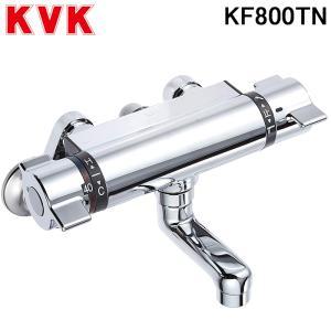 (送料無料)(在庫有)KVK KF800TN サーモスタット式シャワー80mmパイプ付 混合水栓 フ...