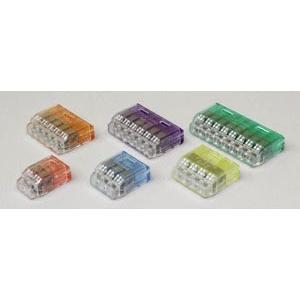 ニチフ 差し込みコネクター クイックロック 紫透明 QLX6 【20個入】|rakurakumarket