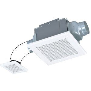 三菱 VD-15ZF10 ダクト用換気扇 天井埋込形 サニタリー用 二部屋換気用 低騒音形|rakurakumarket