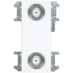 DXアンテナ WU77F2S 壁面テレビ端子2端子形(フィルター付) (2K・4K・8K対応)|rakurakumarket