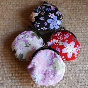 賑桜 ちりめん 月丸財布|rakusaicollection