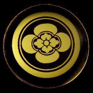 家紋ストラップ《子持ち輪に木瓜(丸に糸輪木瓜)》 rakusaicollection