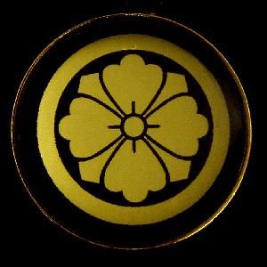 家紋ストラップ《丸に剣花角》