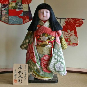 京製尺五市松人形(女)【送料無料!】【松乾斎東光】|rakusaicollection