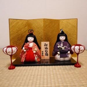 【送料無料!】【雛人形】京製木目込雛 紅梅白梅 |rakusaicollection