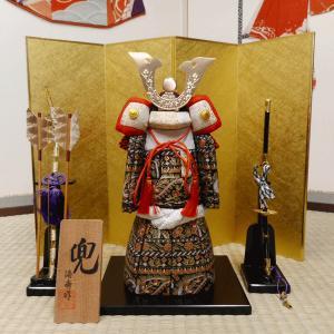 【五月人形】京製木目込人形 兜(弓・太刀付き)|rakusaicollection