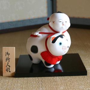 御所人形 犬抱き 【送料無料!】|rakusaicollection
