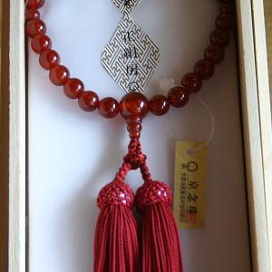 【数珠 女性用】京念珠 瑪瑙|rakusaicollection