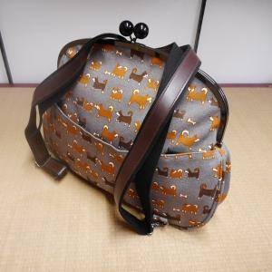 帆布 2wayバッグ (がま口) 【送料無料!】|rakusaicollection