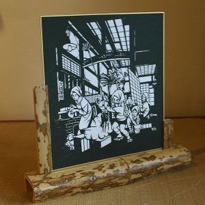 色紙(切り絵)【すす払い】|rakusaicollection