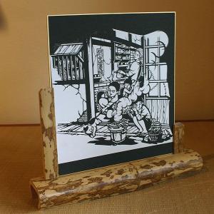 色紙(切り絵)【炭とマキ】|rakusaicollection