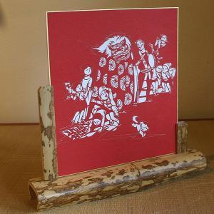 色紙(切り絵)【獅子舞い】|rakusaicollection