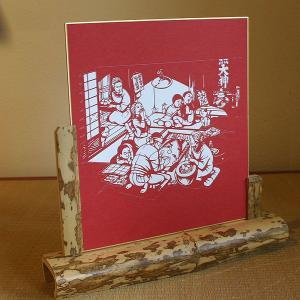 色紙(切り絵)【福笑い】|rakusaicollection